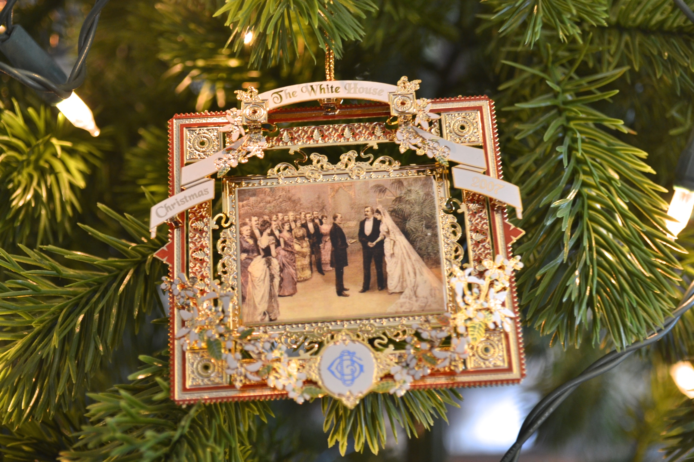 White house christmas ornaments historical society - Ornament From The White House Collectiion